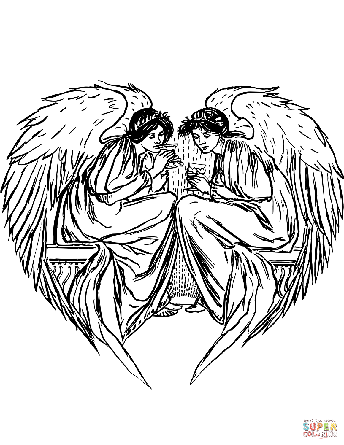 colouring pictures of angels angels coloring pages kidsuki colouring angels of pictures