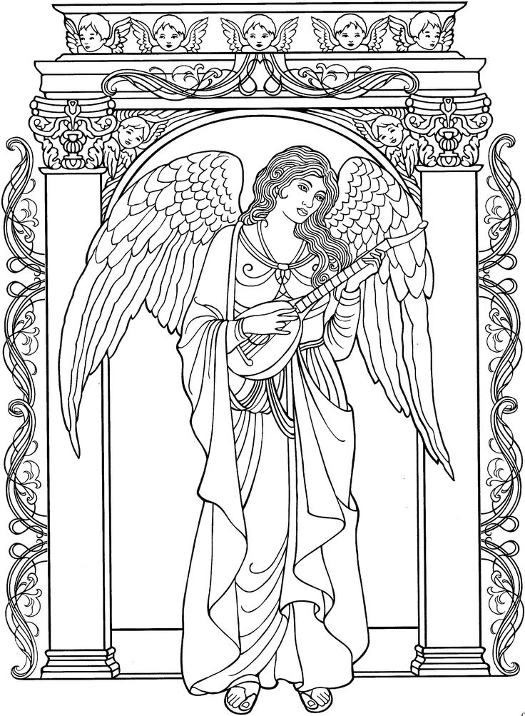 colouring pictures of angels cute colorable little angel free clip art angels pictures of colouring