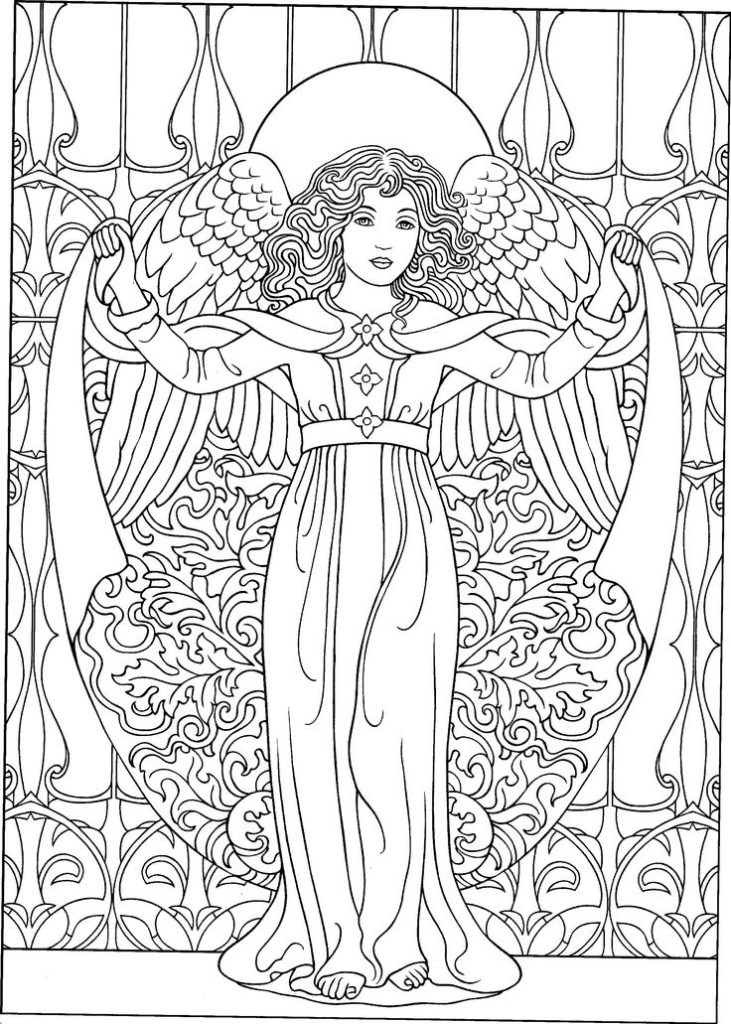colouring pictures of angels fantasy art coloring pages at getdrawings free download pictures angels colouring of