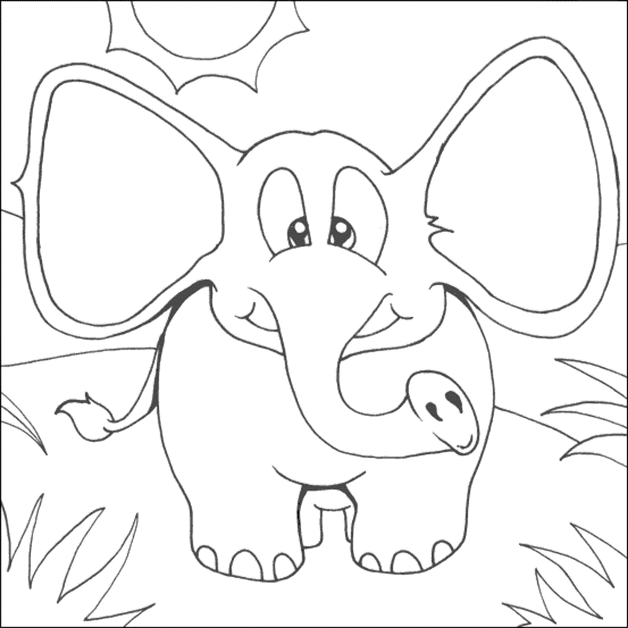 colouring pictures of elephant print download teaching kids through elephant coloring of colouring pictures elephant