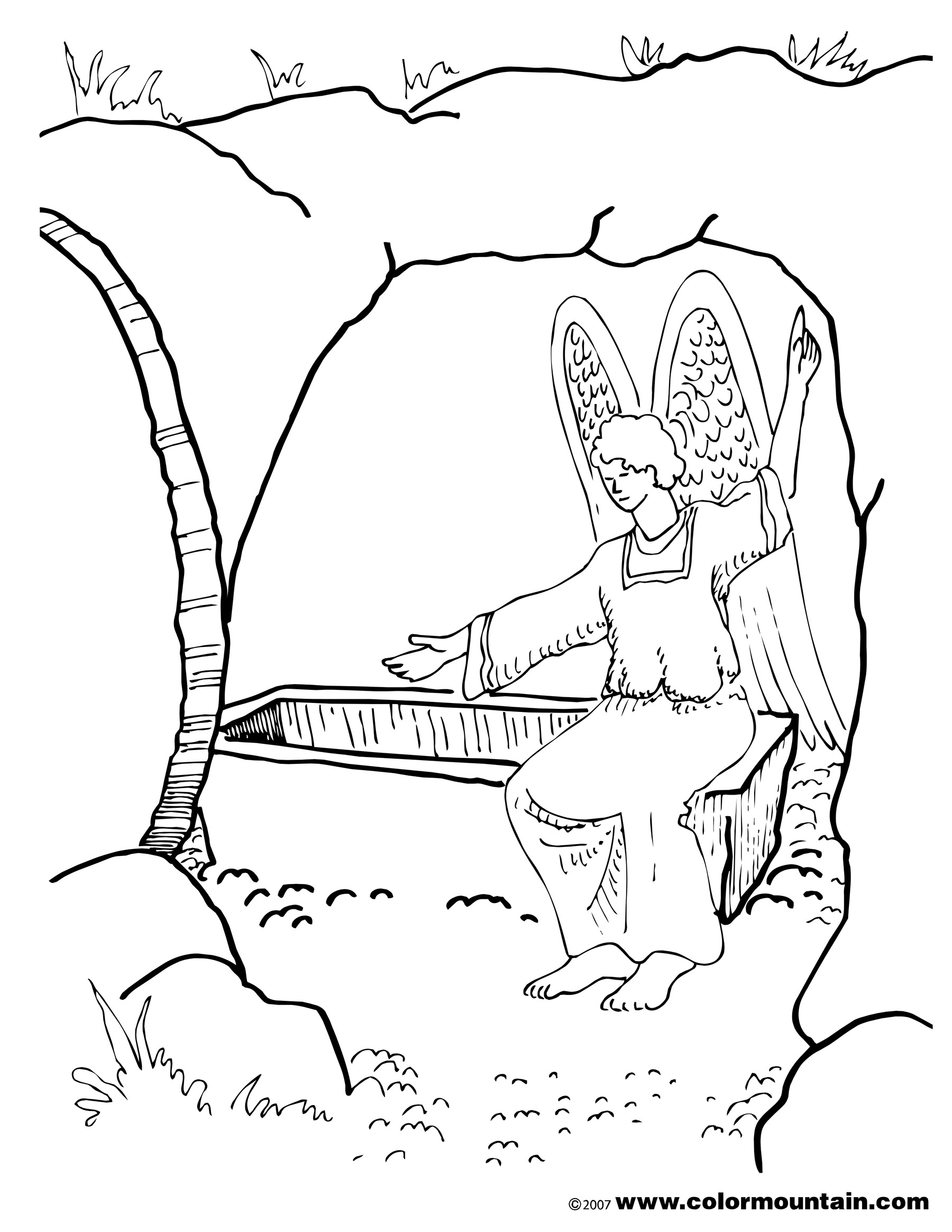 colouring pictures of jesus resurrection he is risen in jesus resurrection coloring page netart jesus pictures of colouring resurrection