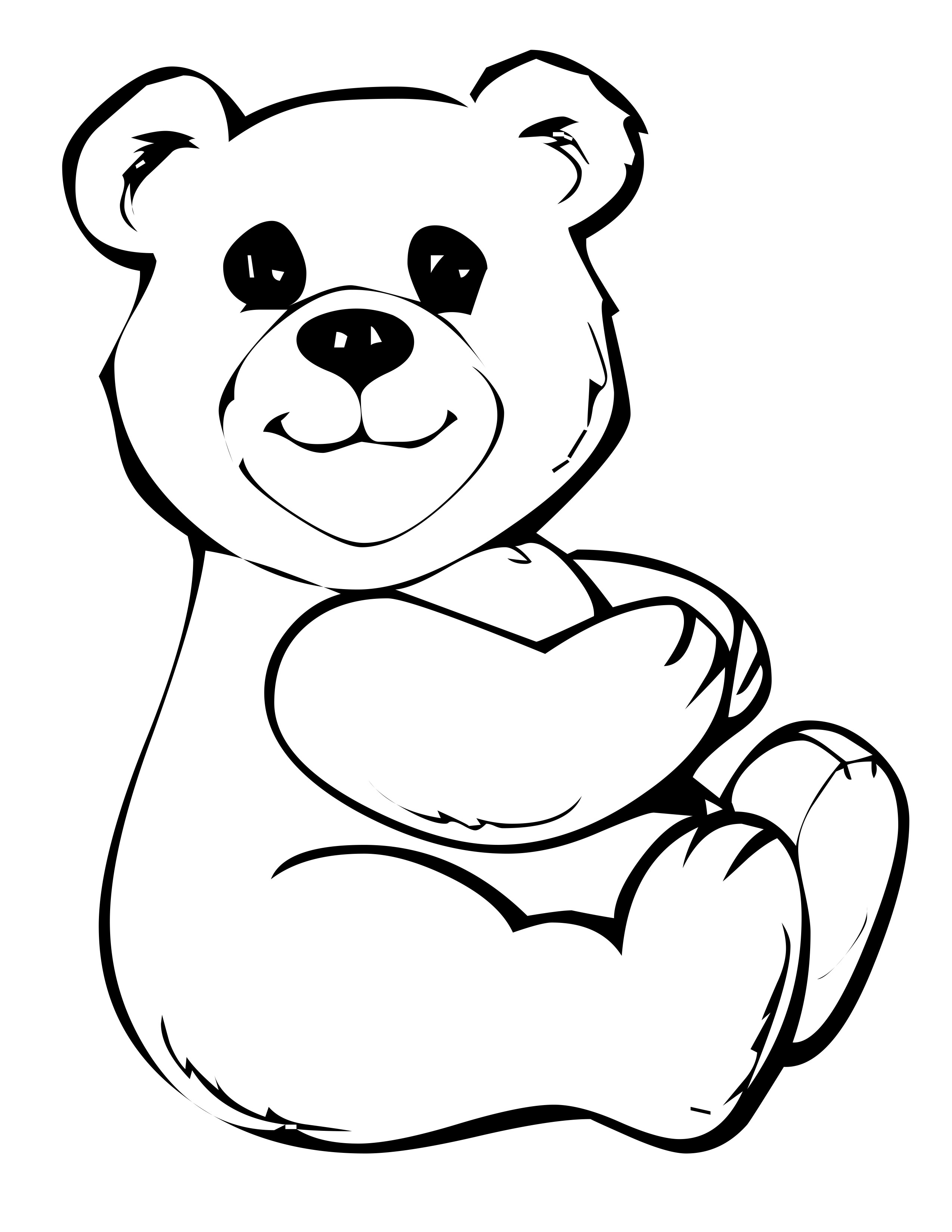 colouring teddy bear free bear coloring pages teddy colouring bear