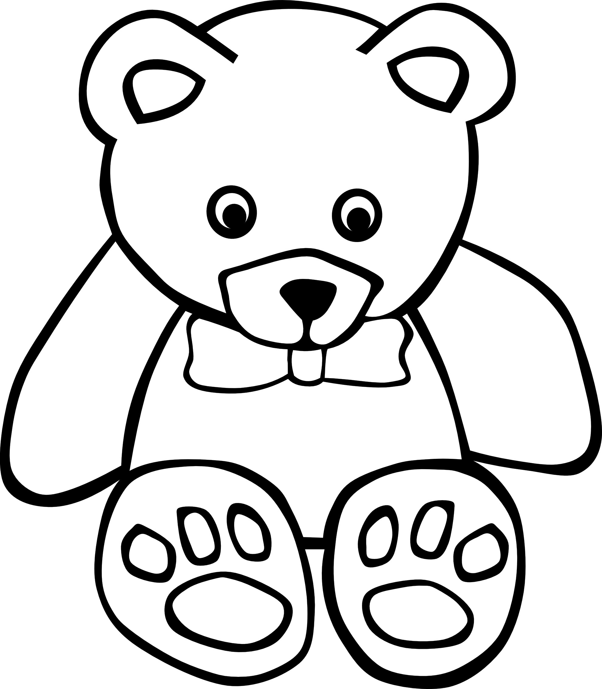colouring teddy bear free printable teddy bear coloring pages for kids colouring bear teddy 1 1