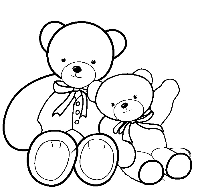 colouring teddy bear teddy bear drawing with heart free download on clipartmag teddy bear colouring