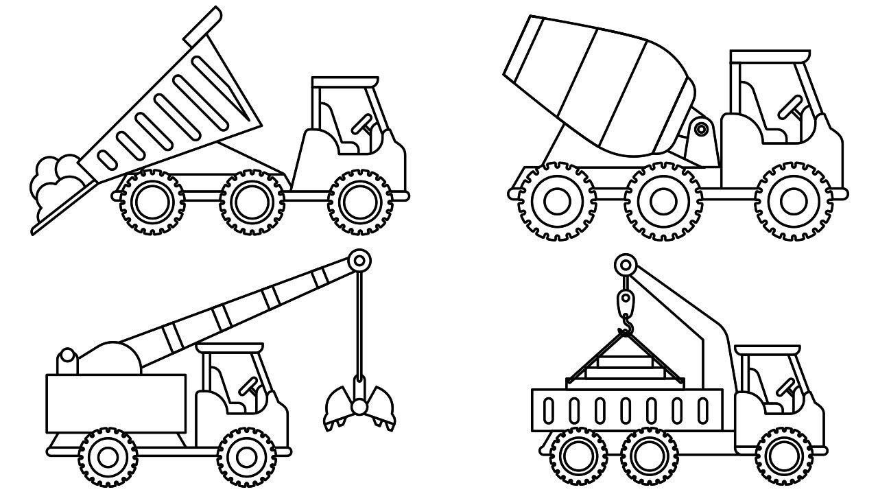 construction pictures to color construction equipment drawing at getdrawings free download color pictures to construction