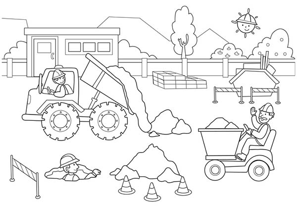 construction pictures to color construction vehicles coloring pages construction to pictures color