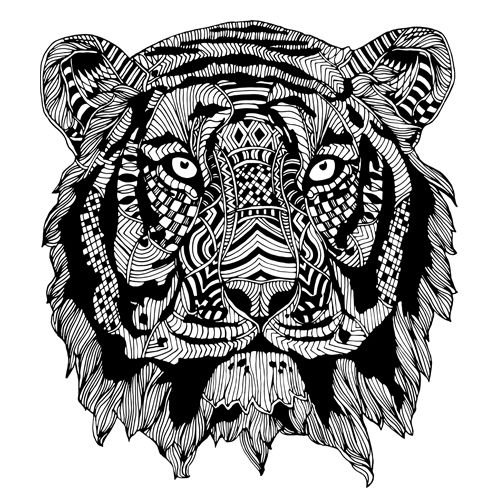 cool tiger coloring pages cool cute tiger suprise coloring page görüntüler ile coloring tiger cool pages
