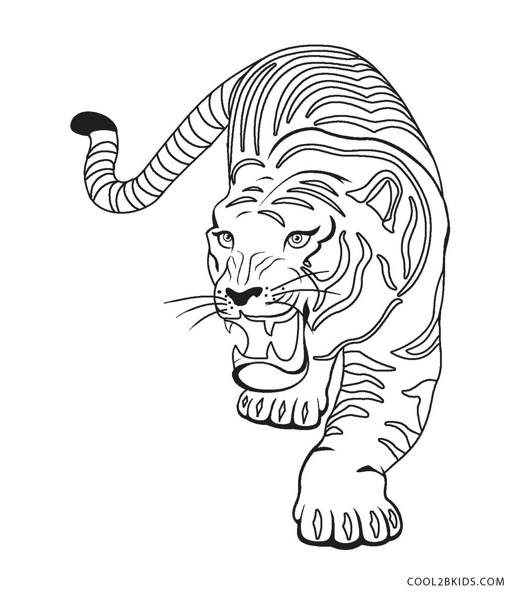 cool tiger coloring pages tigers coloring pages coloring kids coloring kids coloring cool pages tiger 1 1