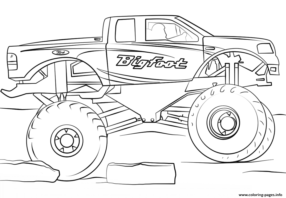 cool truck coloring pages lifted truck coloring pages at getcoloringscom free coloring truck cool pages