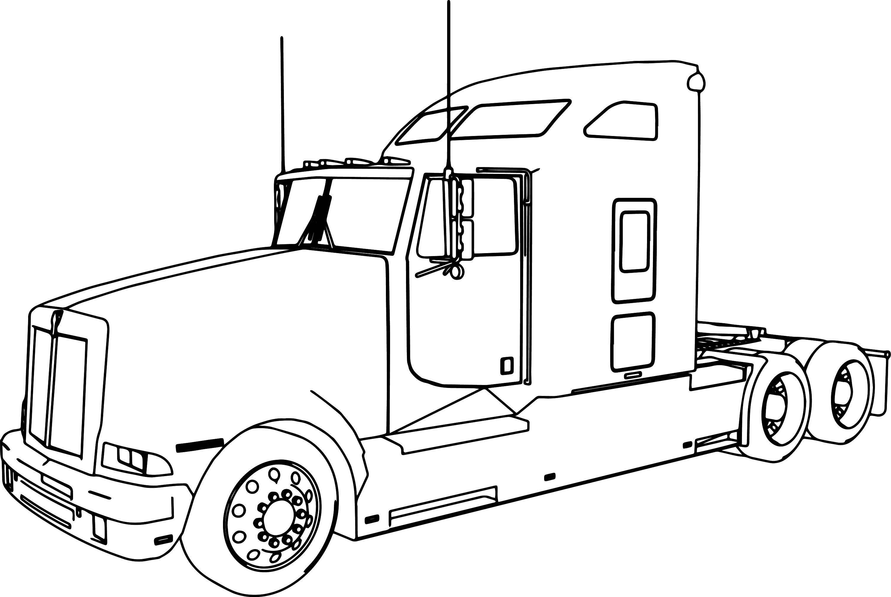 cool truck coloring pages semi truck drawing at getdrawings free download cool pages truck coloring