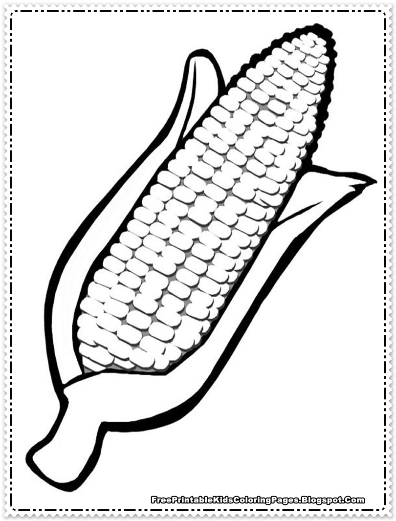 corn coloring pages printable indian corn coloring page food ideas pages corn coloring