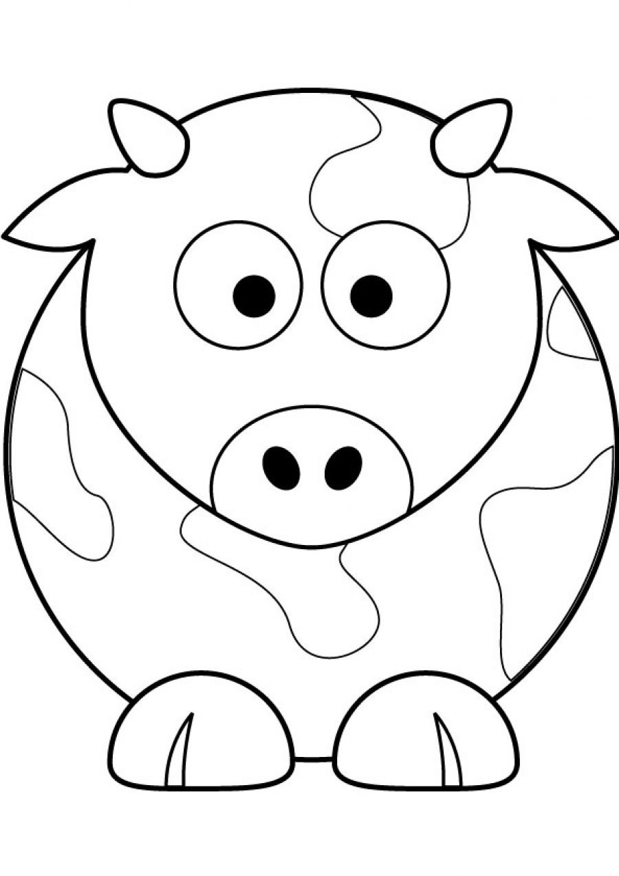 cow head coloring page cow drawing simple at getdrawings free download head cow page coloring