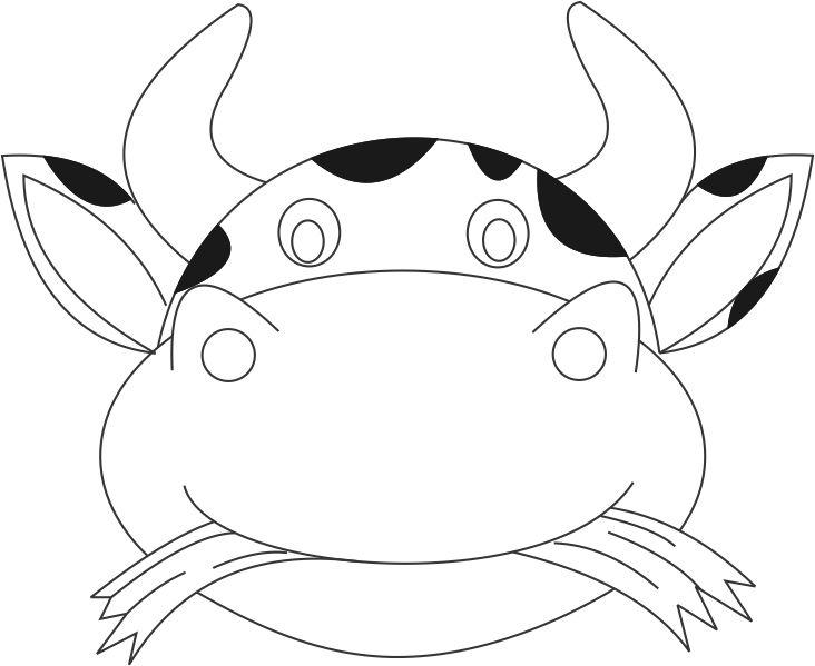 cow head coloring page cow head coloring page at getcoloringscom free page cow coloring head