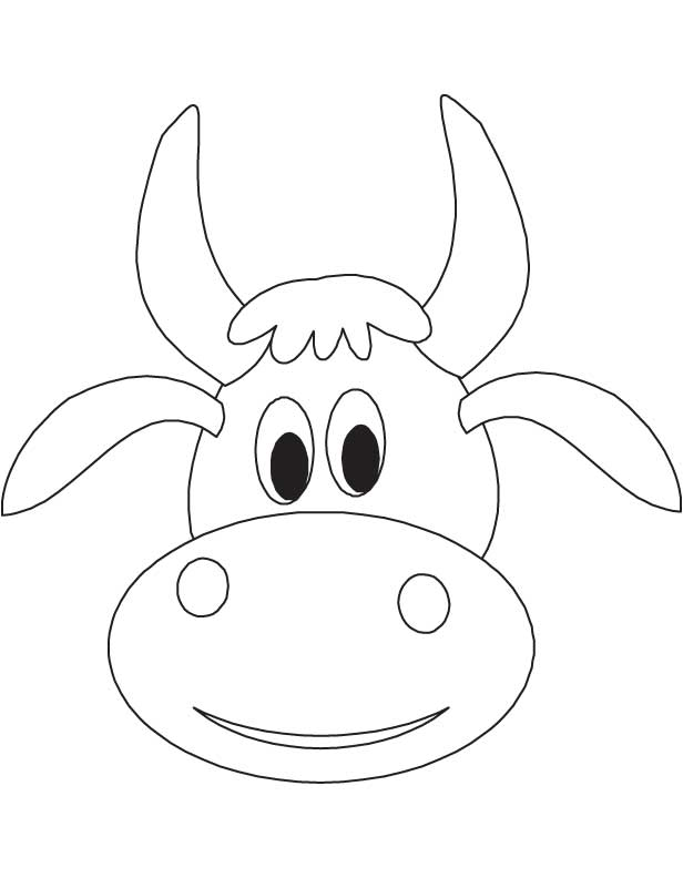 cow head coloring page cow head coloring page at getcoloringscom free page head coloring cow