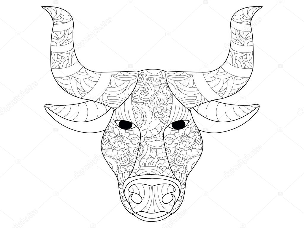cow head coloring page cow head coloring page cow head coloring vector for coloring cow head page