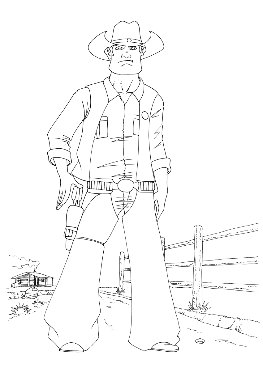cowboy line drawing cowboy line drawing free download on clipartmag line cowboy drawing