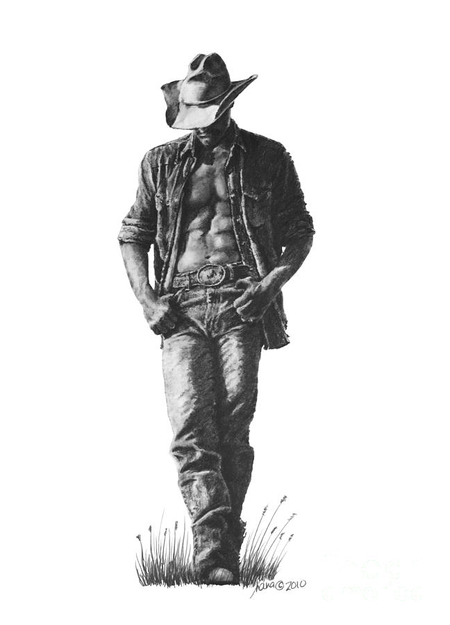 cowboy line drawing inside the rock poster frame blog paul maybury comes to cowboy drawing line