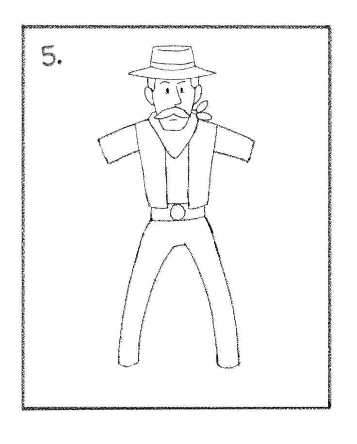cowboy line drawing the cowboy in 2019 drawings pencil drawings cowboy draw line drawing cowboy