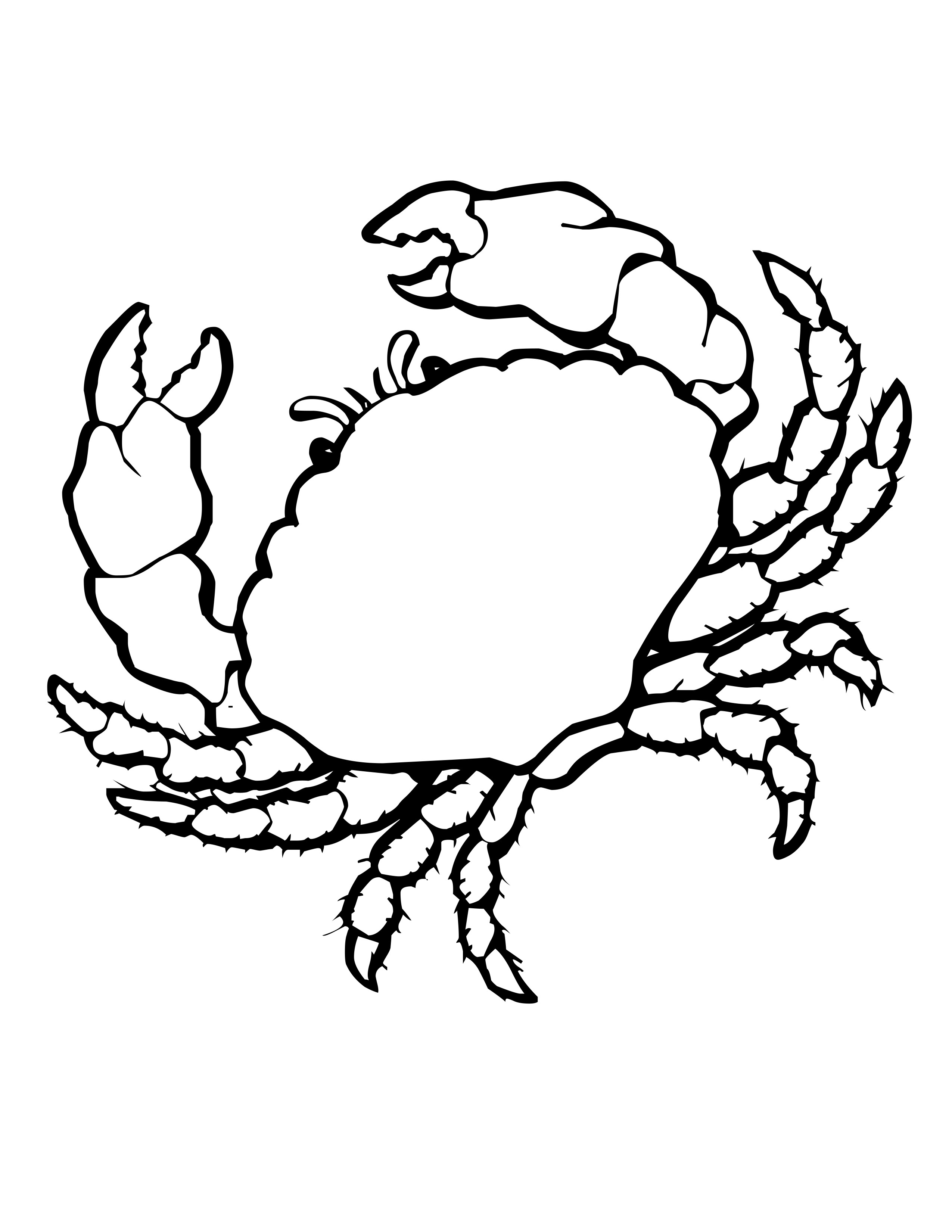 crab coloring pages free free printable crab coloring pages for kids animal place pages crab free coloring