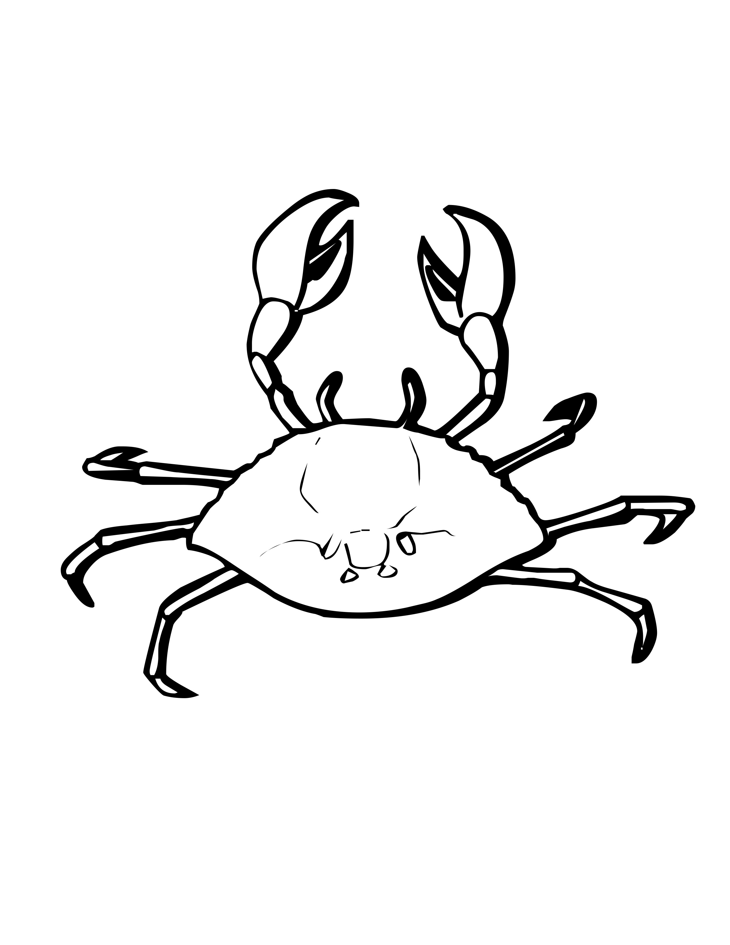 crabs coloring pages free printable crab coloring pages for kids animal place coloring crabs pages