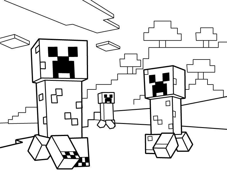 creeper coloring pages minecraft coloring pages creeper face at getcoloringscom creeper pages coloring