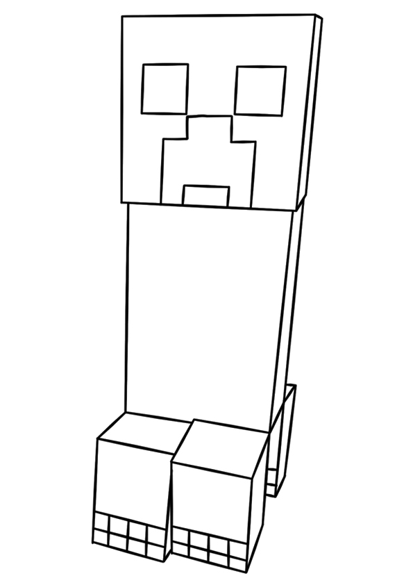creeper coloring pages minecraft creeper face coloring pages at getcoloringscom pages coloring creeper