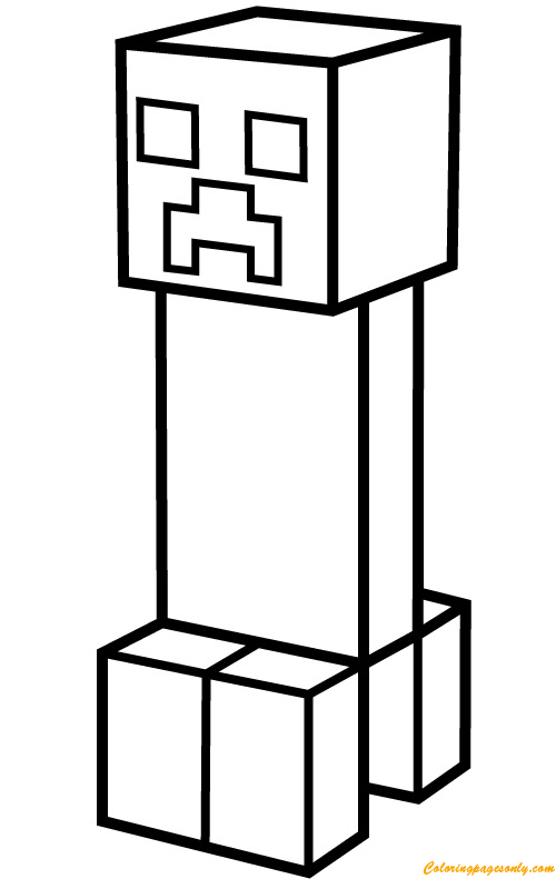 creeper coloring pages minecraft creeper minecraft coloring page for kids coloring creeper pages