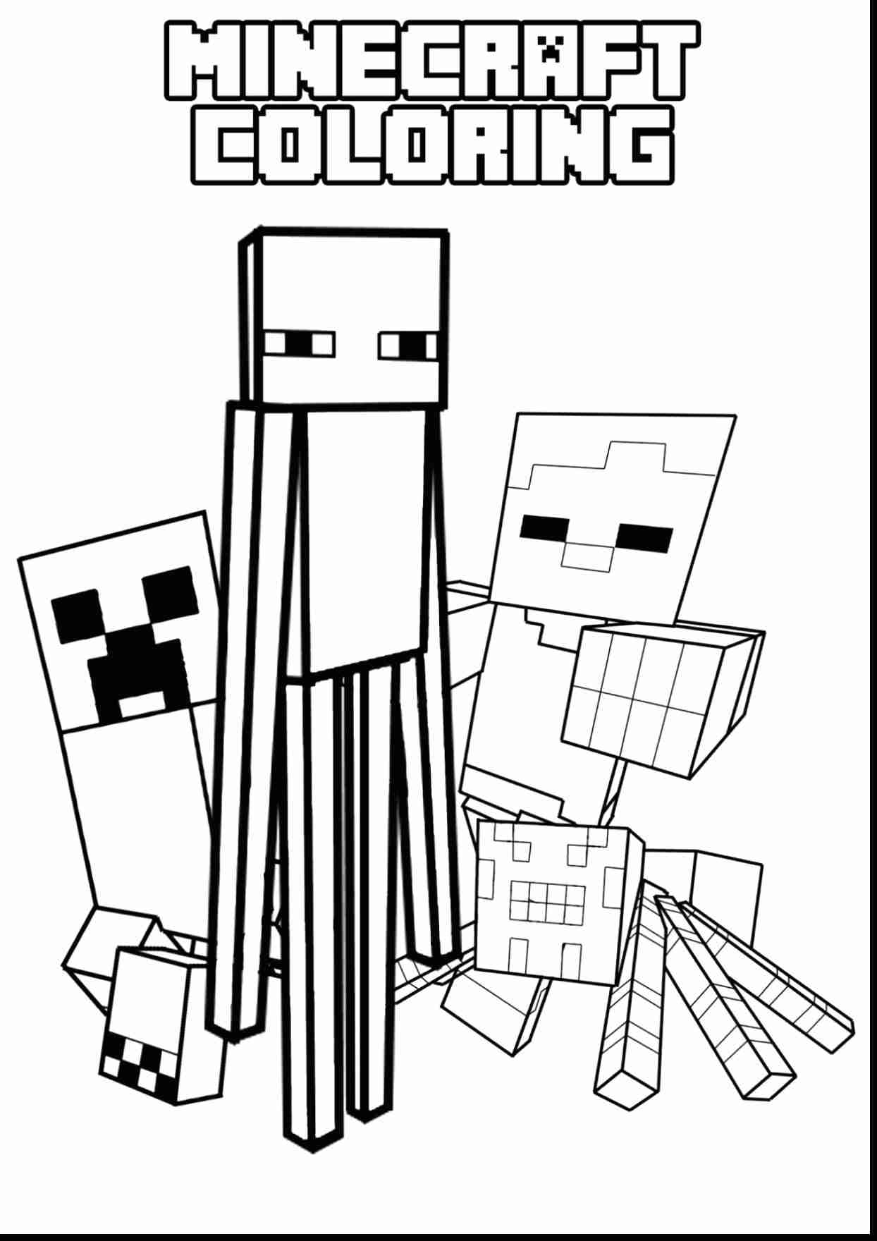 creeper coloring pages minecraft steve creeper enderman free printable coloring coloring pages creeper
