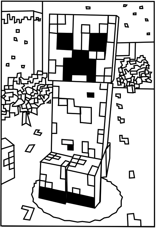 creeper coloring pages minecraft steve creeper enderman free printable coloring creeper coloring pages