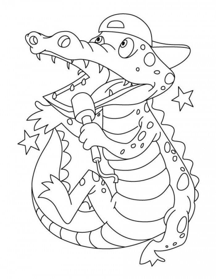 crocodile colouring page free printable alligator coloring pages for kids cool2bkids crocodile colouring page