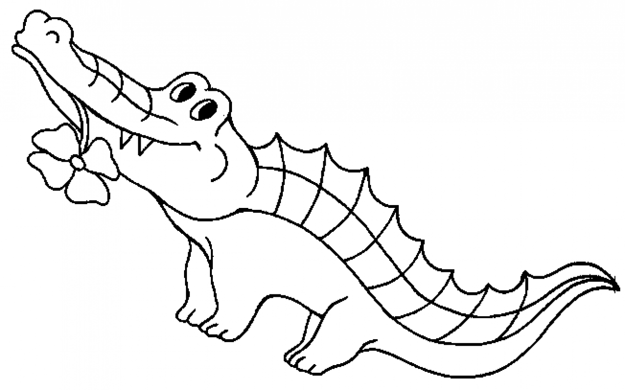 crocodile colouring page nile crocodile coloring page at getdrawings free download page colouring crocodile
