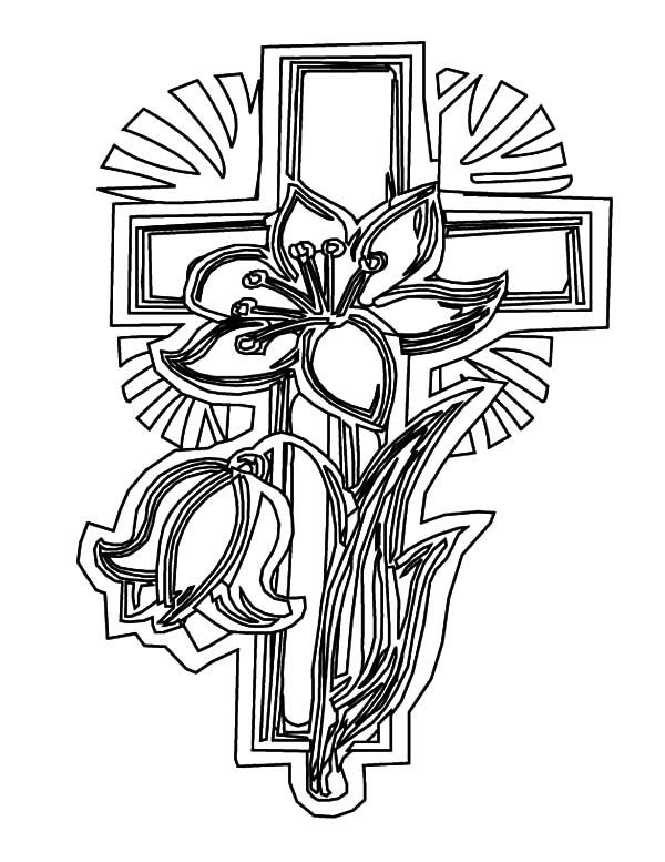 cross coloring sheet cross with wings in the clouds coloring page free cross sheet coloring