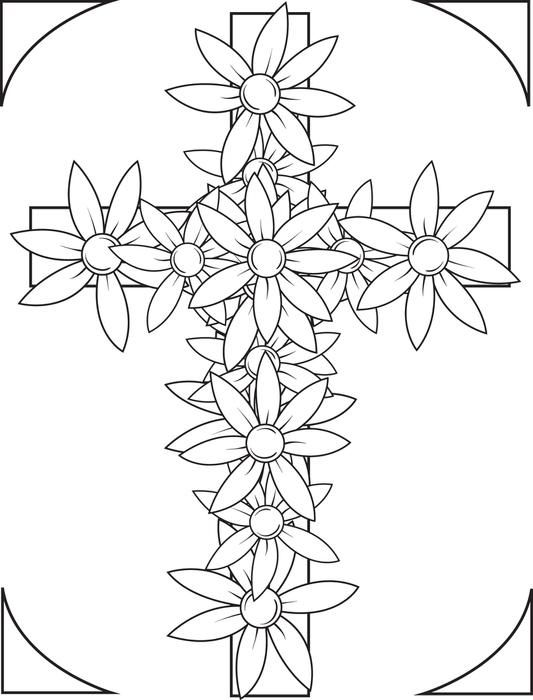 cross coloring sheet rose decorated celtic cross coloring pages best place to coloring sheet cross