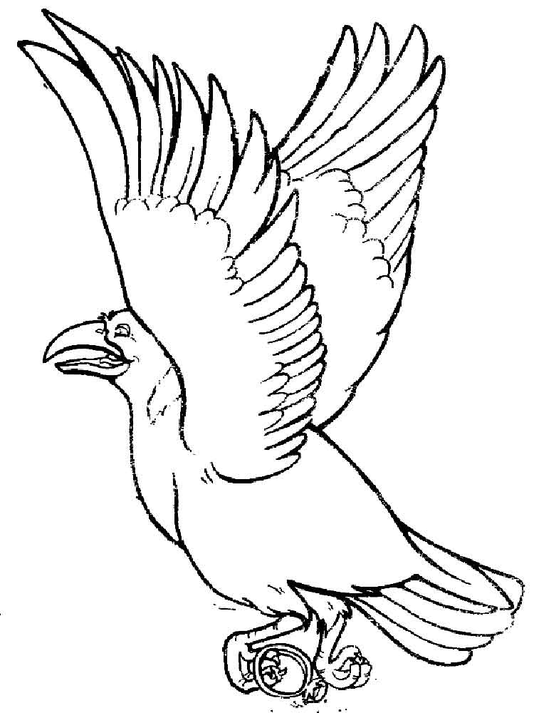 crow printable coloring pages crow coloring pages kidsuki coloring crow printable pages