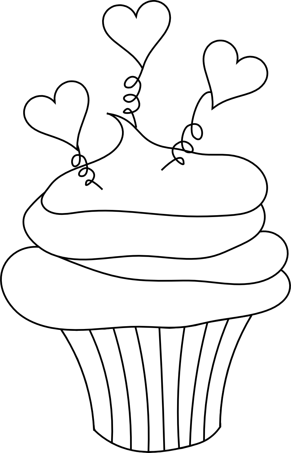 cupcake colouring template 1000 images about birthdays on pinterest clip art template colouring cupcake