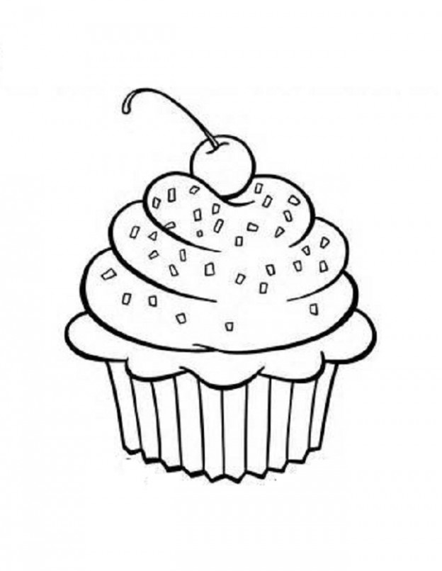 cupcake colouring template 25 lovely cupcake coloring pages your toddler will love template colouring cupcake