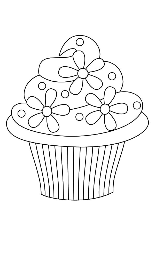 cupcake colouring template 5 best images of printable birthday cupcake outlines cupcake template colouring