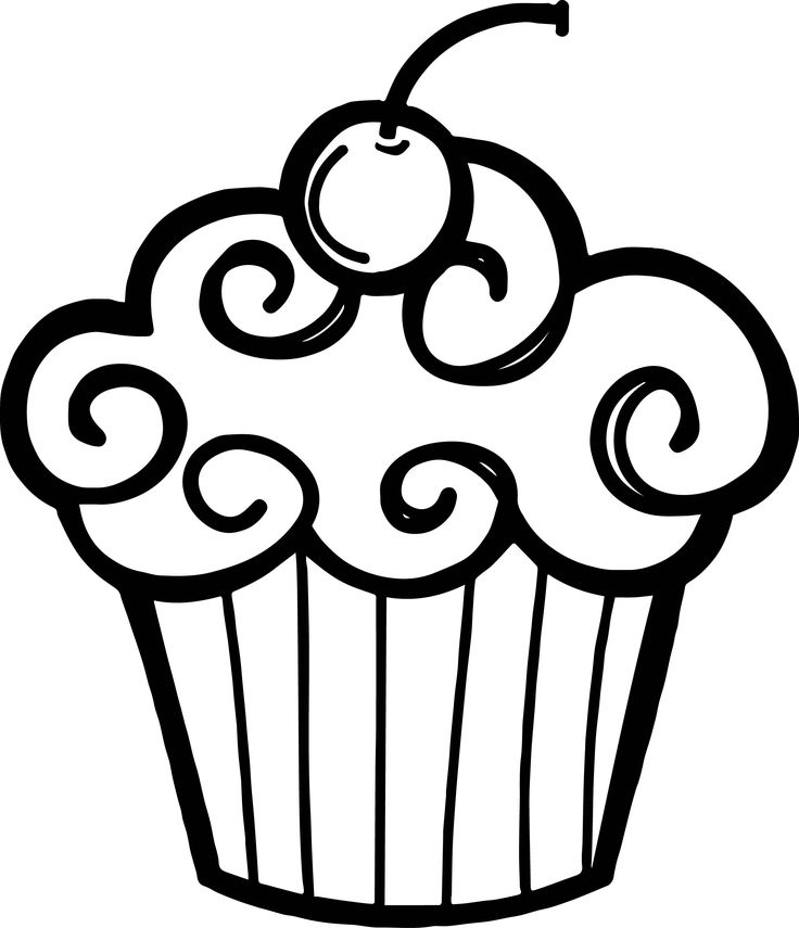 cupcake colouring template simple cupcake drawing at getdrawings free download template colouring cupcake