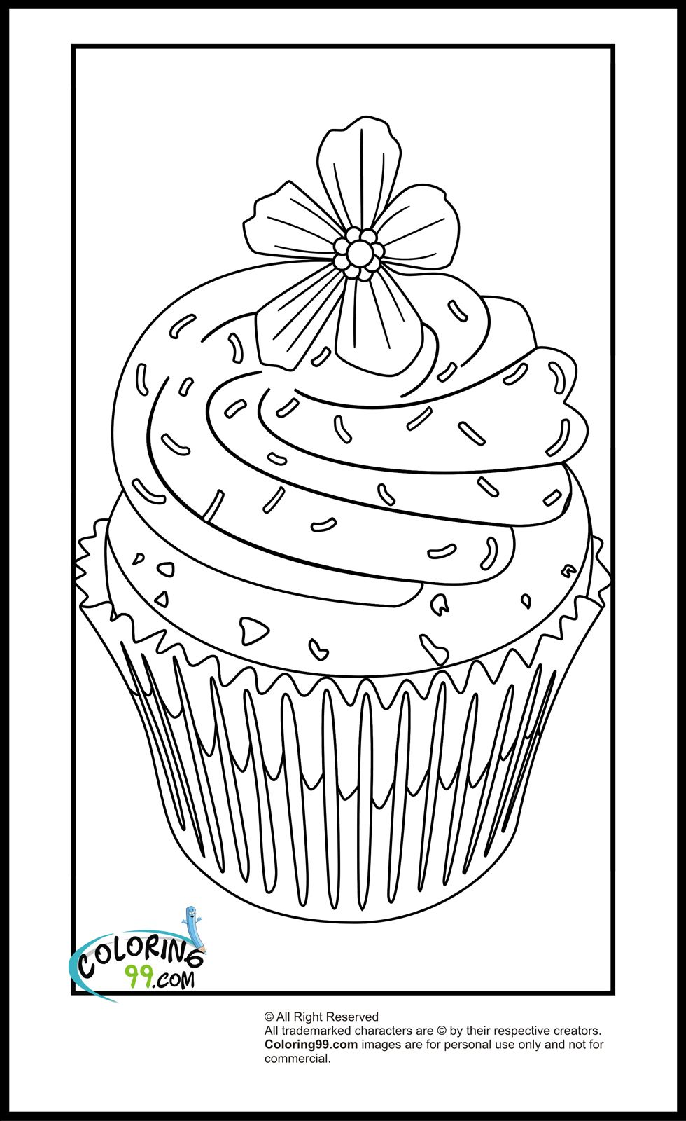 cupcake colouring template sprinkles topping cupcake coloring page netart cupcake colouring template