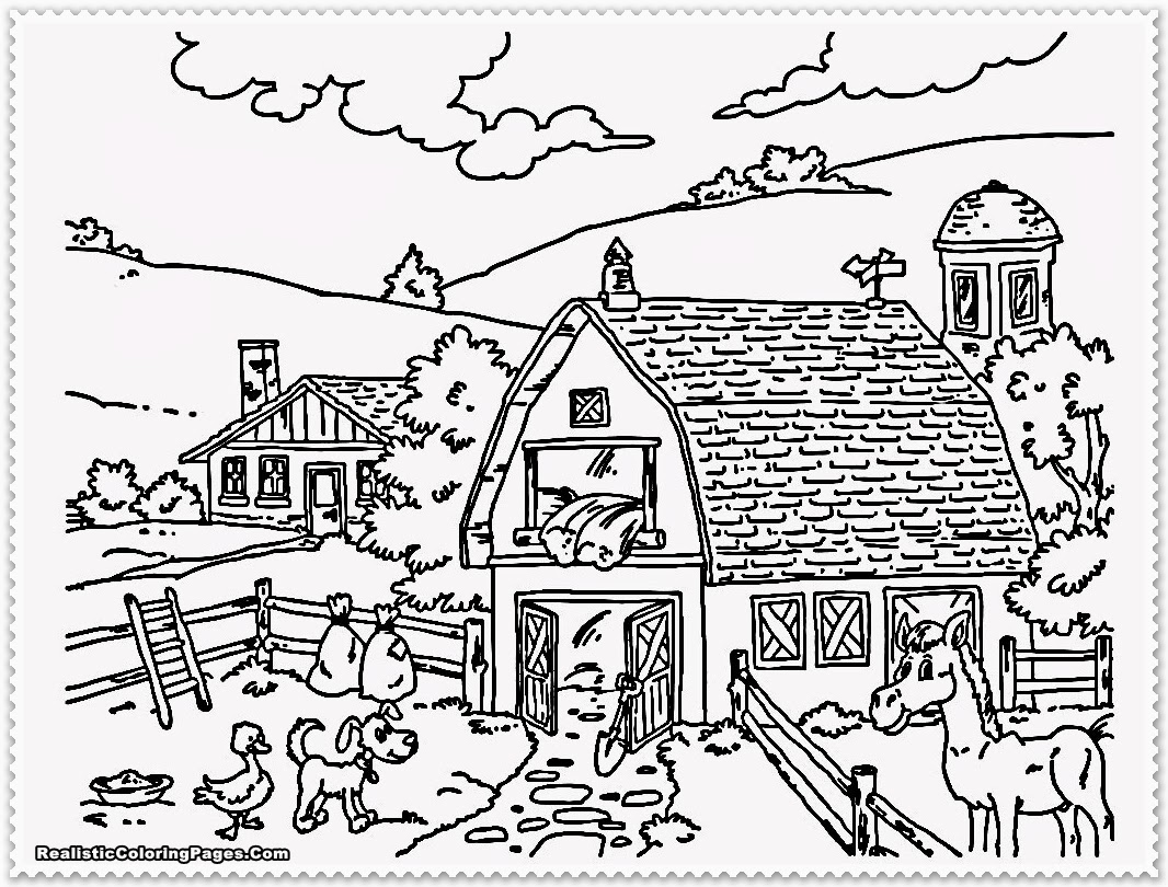 cute farm coloring pages coloring pages farming scenes coloring home cute pages coloring farm