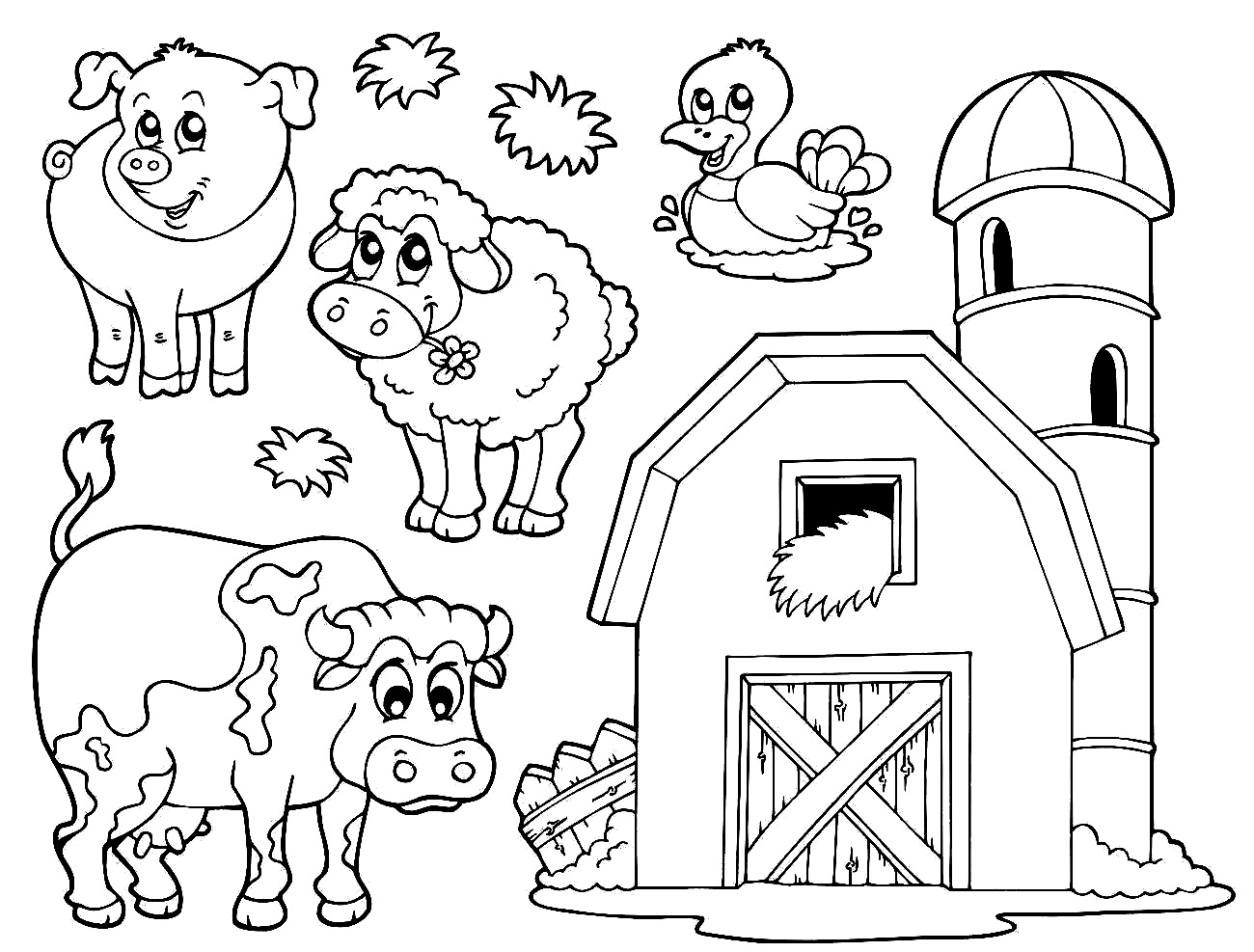 cute farm coloring pages farm coloring pages to download and print for free farm cute pages coloring