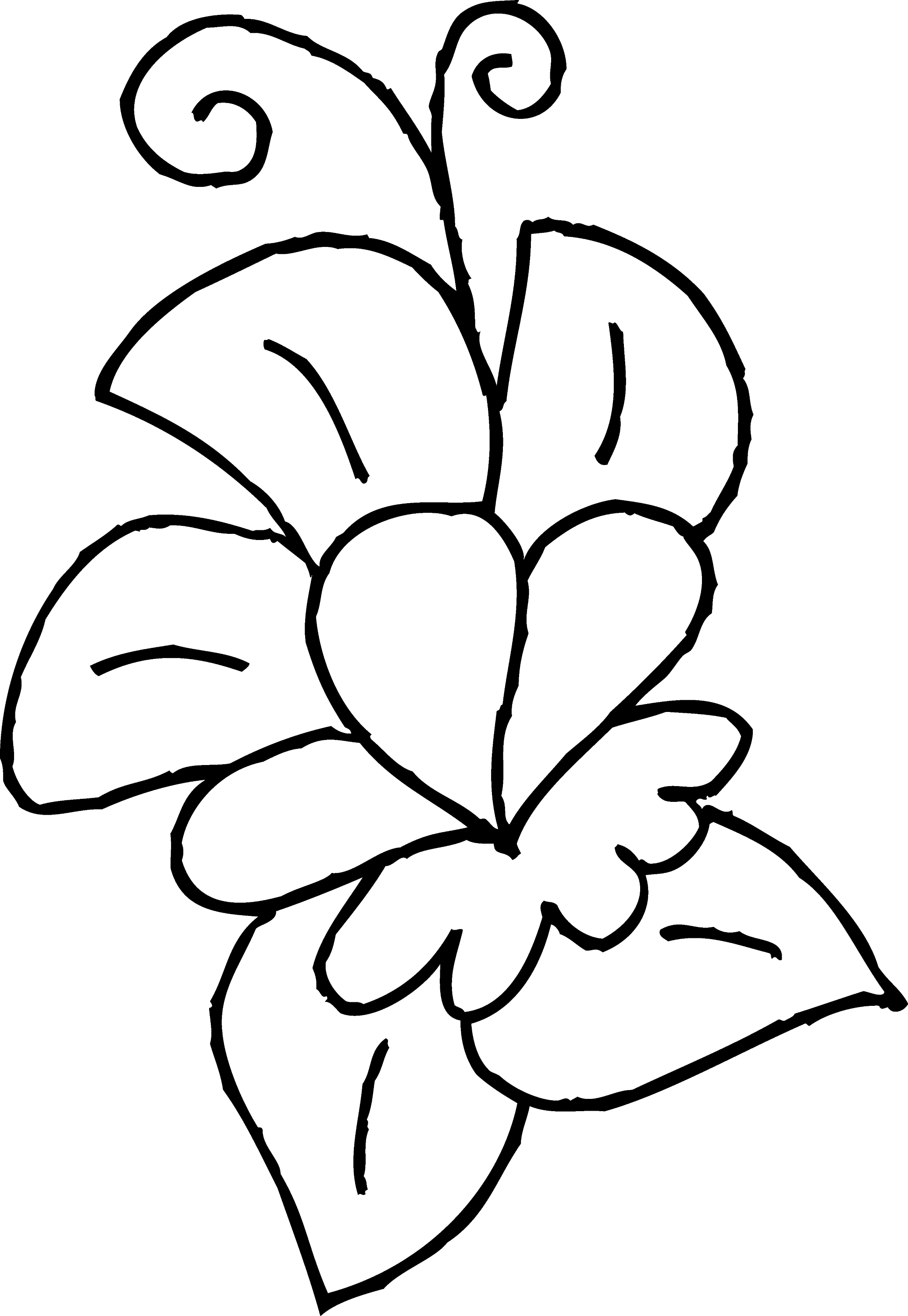 cute flower coloring pages clipart simple flower bw cute coloring pages flower