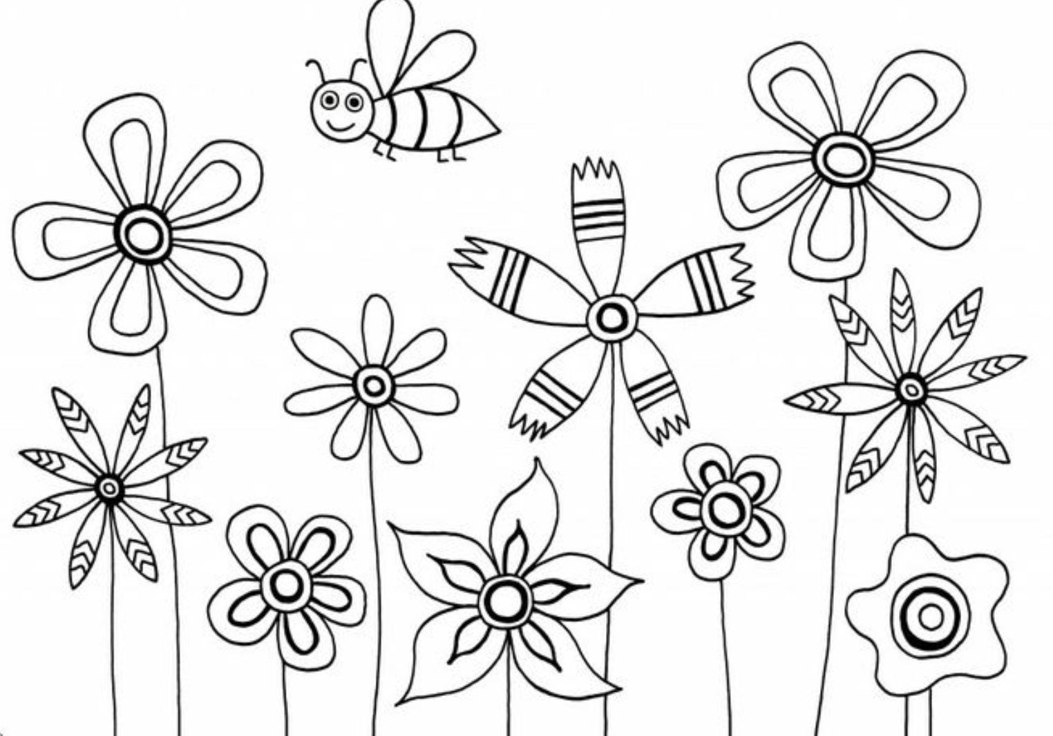 cute flower coloring pages cute flower coloring pages at getcoloringscom free coloring flower cute pages