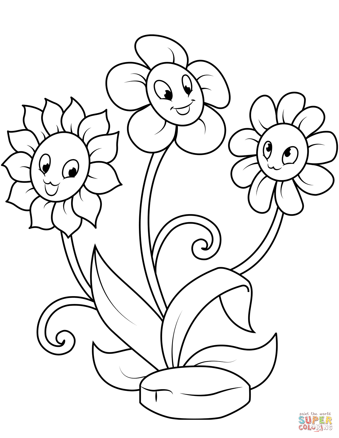 cute flower coloring pages cute spring flower coloring page 3 free clip art flower coloring cute pages