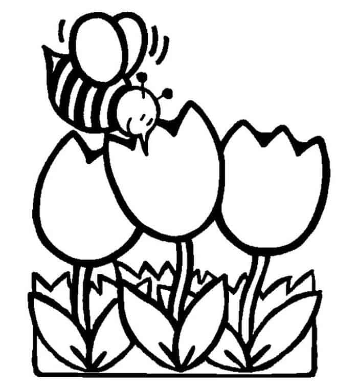 cute flower coloring pages tulip coloring pages pages cute flower coloring