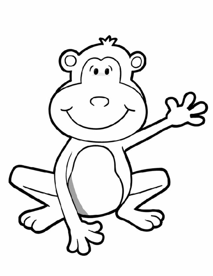 cute monkey coloring pages coloring pages of cute baby monkeys at getcoloringscom coloring cute monkey pages