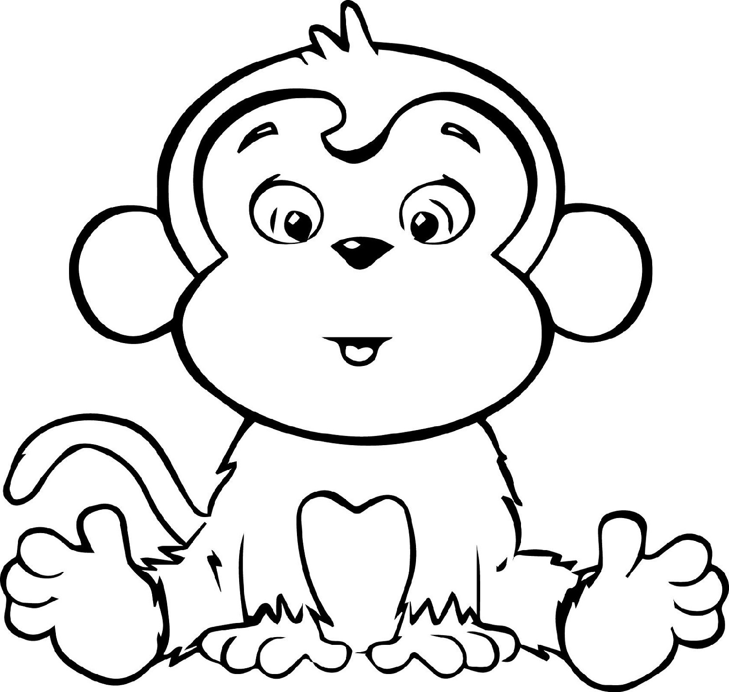 cute monkey coloring pages coloring pictures of monkeys monkey coloring pages easy pages monkey coloring cute