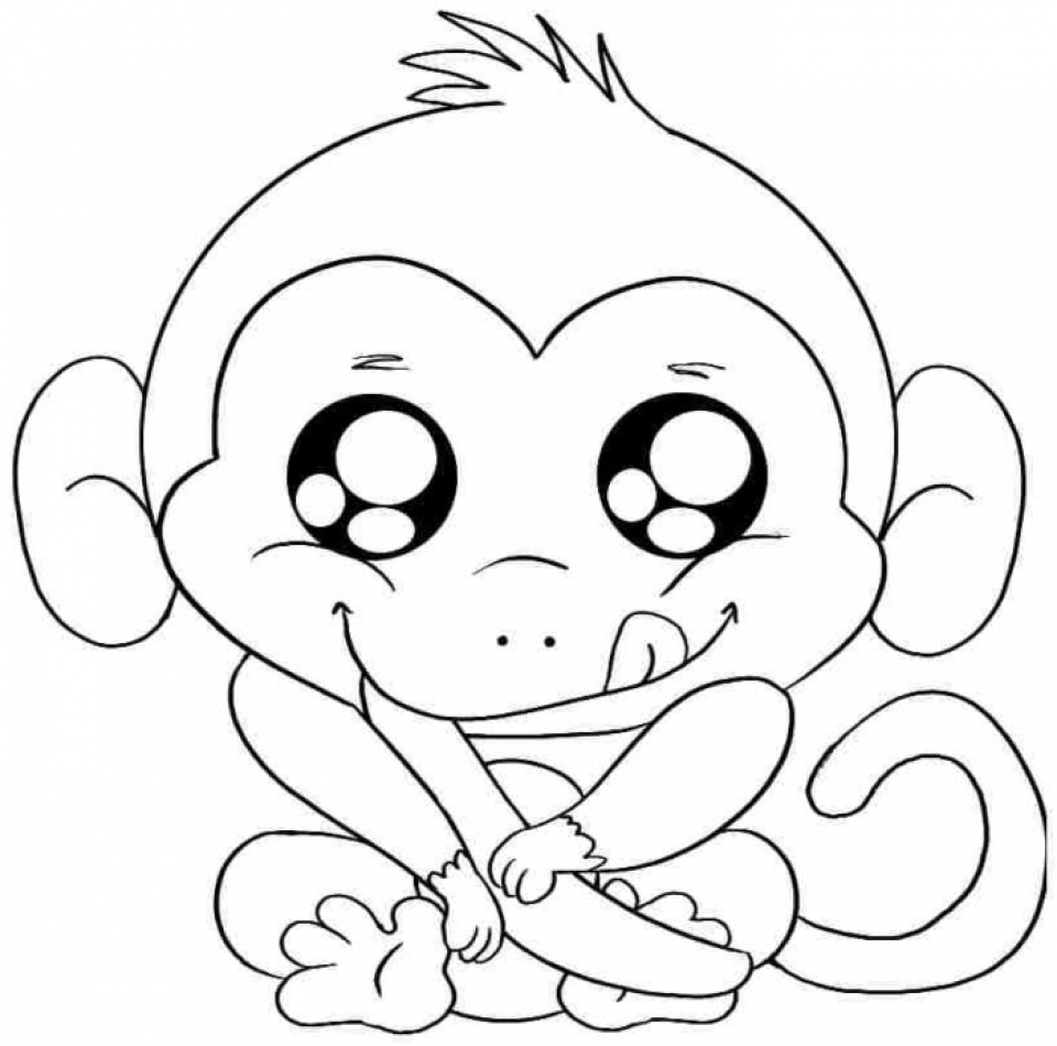 cute monkey coloring pages cute baby monkey coloring pages printables coloring home cute pages monkey coloring