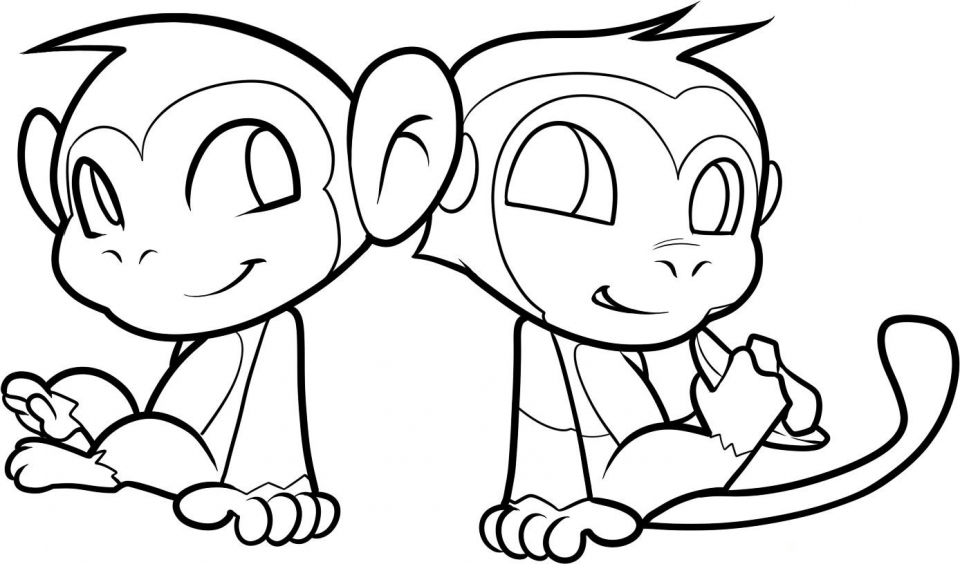 cute monkey coloring pages get this cute monkey coloring pages for kids 60318 cute monkey pages coloring