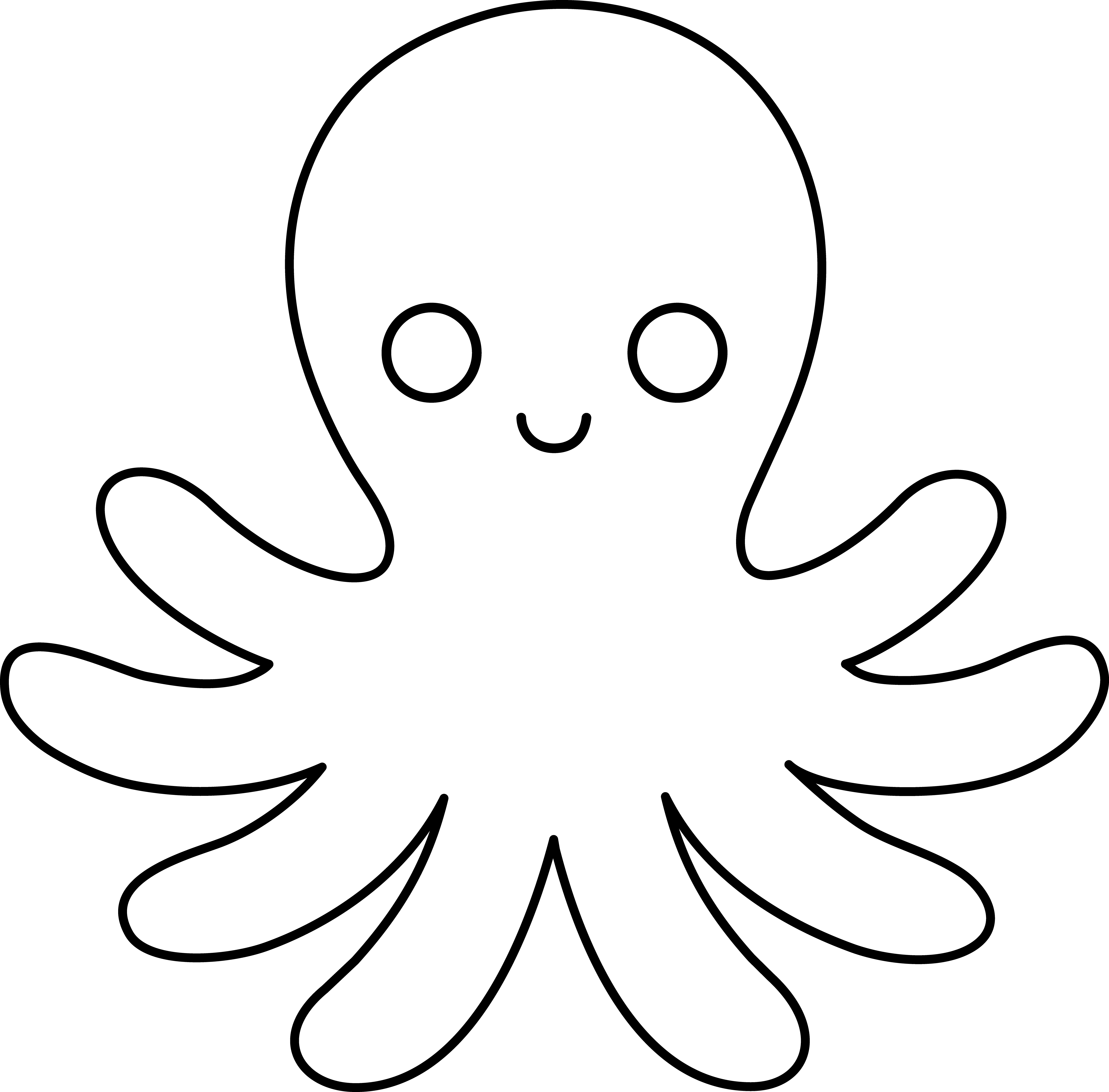cute octopus coloring page clipart panda free clipart images cute coloring octopus page
